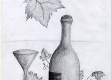 Warsztaty artystyczne: ADRIANNA CIOŁKA martwa natura, ołówek