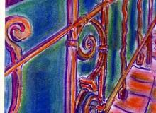 Warsztaty artystyczne: ALEKSANDRA WOJTOWICZ Poręcz schodów w 2LO, suchy pastel