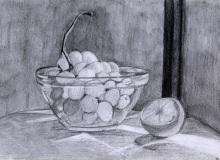 Warsztaty artystyczne: ALICJA NOWICKA Martwa natura, ołówek