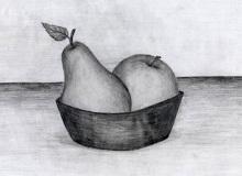 Warsztaty artystyczne: ADRIANNA CIOŁKA owoce, ołówek