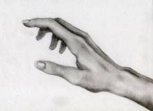 Warsztaty artystyczne: ANNA ZAJDEL Studium dłoni, ołówek