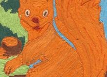 Prace konkursowe: PATRYCJA PIC Wiewiórka, papieroplastyka