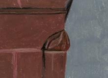 Warsztaty artystyczne: Sandra Godek, Fragment filaru z gzymsem i wałkiem dwie trzecie, 2LO, pastel