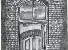Warsztaty artystyczne: Barbara Picur, Okno w 2LO, ołówek