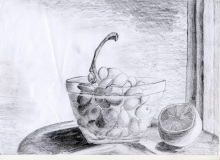 Warsztaty artystyczne: OLGA BOGUCKA Martwa natura, ołówek