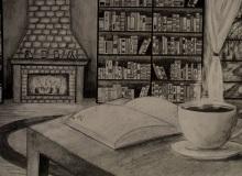 Biblioteka Alicja Nowicka, ołówek, papier