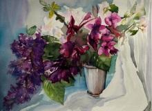 Kwiaty Aleksandra Stompor, akwarele, papier