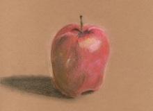 Warsztaty artystyczne: Zuzanna Turkiewicz Jabłko, suchy pastel