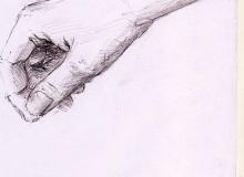Warsztaty artystyczne: ZUZANNA TURKIEWICZ Studium dłoni, ołowek