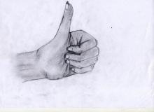 Warsztaty artystyczne: SANDRA GODEK Studium dłoni, ołówek