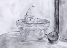Warsztaty artystyczne: WIOLETTA GABRYŚ Martwa natura, ołówek