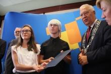 Podpisanie deklaracji kontynuacji współpracy Legnica - Wuppertal IX 2018