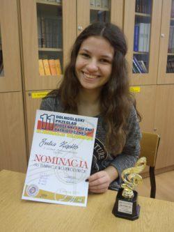 Julia Żądło kl.2b - nominacja do okręgowego etapu Konkursu Pieśni Patriotycznej